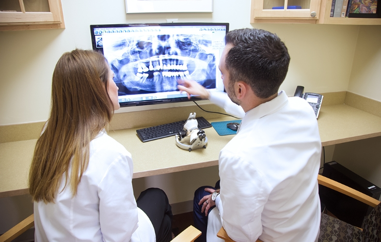 Baltimore dentists looking at digital x-rays